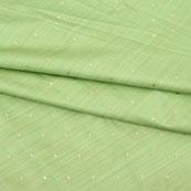 Olive Green Golden Polka Taffeta Silk Fabric-9089