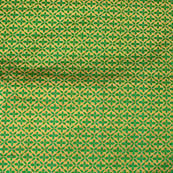 Olive Green and Golden flower style silk brocade fabric-4612