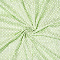 Olive green White Polka Cotton Fabric-28596