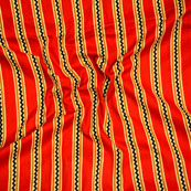Orange Black and Yellow Block Print Cotton Fabric-14601
