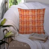 Orange Cotton Cushion Cover-35001