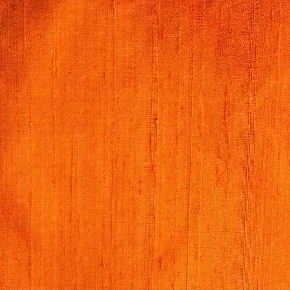 Orange Dupion Pure Raw Silk Fabric