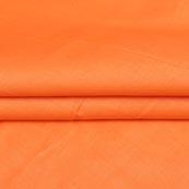 Orange Plain Cotton Silk Fabric-16435