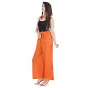 Orange Rayon Free Size Solid Palazzo-3060