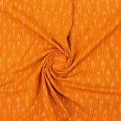 Orange White Ikat Cotton Fabric-12306