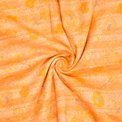 Orange Yellow Floral Rayon Fabric-16225