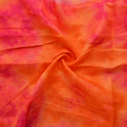 Orange and Pink Kota Doria Fabric-25061