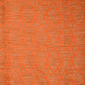 Orange and golden silk brocade fabric-5024