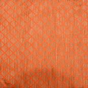 Orange and golden square shape silk brocade fabric-4981