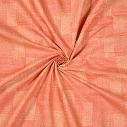 Peach Cream zigzag Print Cotton Fabric-28578