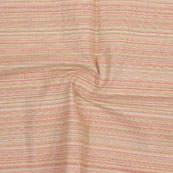 Peach Multicolor Stripes Handloom Khadi Cotton Fabric-40660