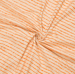 Peach Orange Leheriya Cotton Fabric-28109