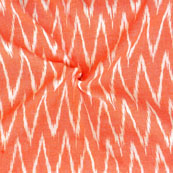 Peach White Ikat Cotton Fabric-12264