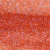 Peach White Digital Organza Silk Fabric-51600