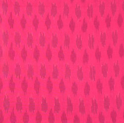 Pink Black Ikat Cotton Fabric-11019