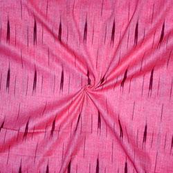 Pink Black Ikat Cotton Fabric-11146