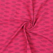 Pink Black Ikat Cotton Fabric-12337