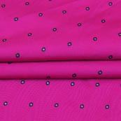 Pink Blue and Golden Zari Dot Brocade Silk Fabric-9260