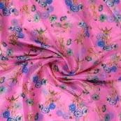 Pink Blue and Green Digital Organza Silk Fabric-51660