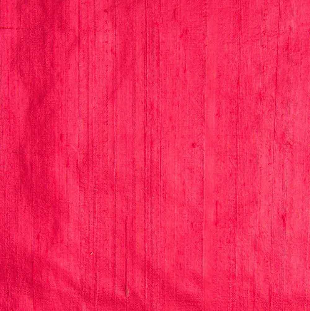 Pink Dupion Pure Raw Silk Fabric