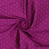 Pink Golden Polka Taffeta Silk Fabric-9059