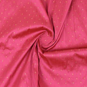 Pink Golden Polka Taffeta Silk Fabric-9061