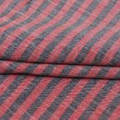 Pink Gray Striped Handloom Khadi Cotton Fabric-40774