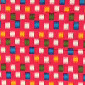 Pink-Green and Yellow Kalamkari Cotton Fabric-10030