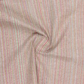 Pink Multicolor Stripes Handloom Khadi Cotton Fabric-40661
