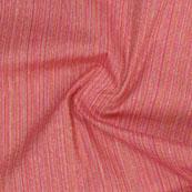 Pink Multicolor Stripes Handloom Khadi Cotton Fabric-40662