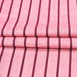 Pink Purple Stripe Cotton Fabric-42397