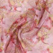 Pink Red Digital Organza Silk Fabric-51564