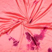 Pink Satin Batik Fabric-32066