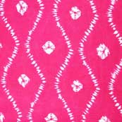Pink Wave Design Indian Cotton Fabric by the Yard