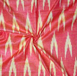 Pink White Ikat Cotton Fabric-11129