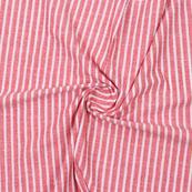 Pink White Striped Handloom Khadi Cotton Fabric-40750