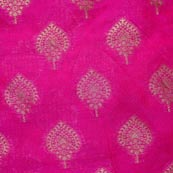 Pink and Golden Unique Pattern Brocade Fabric-4288