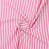 Pink and Peach White Striped Handloom Khadi Cotton Fabric-40755