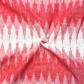Pink and White Zig-Zag Pattern Ikat Fabric-12005
