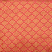 Pink and golden unique shape brocade silk fabric-5007