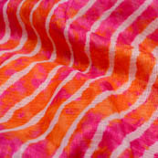Pink and orange leharia kota doria fabric-4915