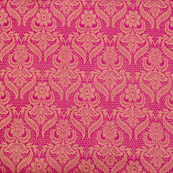 Pink flower shape golden silk brocade fabric-4977