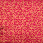 Pink golden flower silk brocade fabric-4994