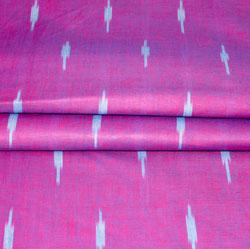 Purple Cyan Ikat Cotton Fabric-11163