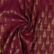 Purple Golden Music Instrument Brocade Silk Fabric-9340
