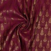 Purple Golden Music Instrument Brocade Silk Fabric-9340