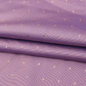Purple Golden Polka Taffeta Silk Fabric-9092