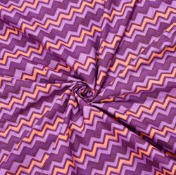 Purple Peach Leheriya Cotton Fabric-28098