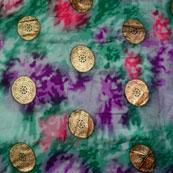 Purple-Pink and Grey Circle Pattern Kota Doria Fabric-6026
