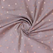 Purple Red and Golden Zari Dot Brocade Silk Fabric-9250